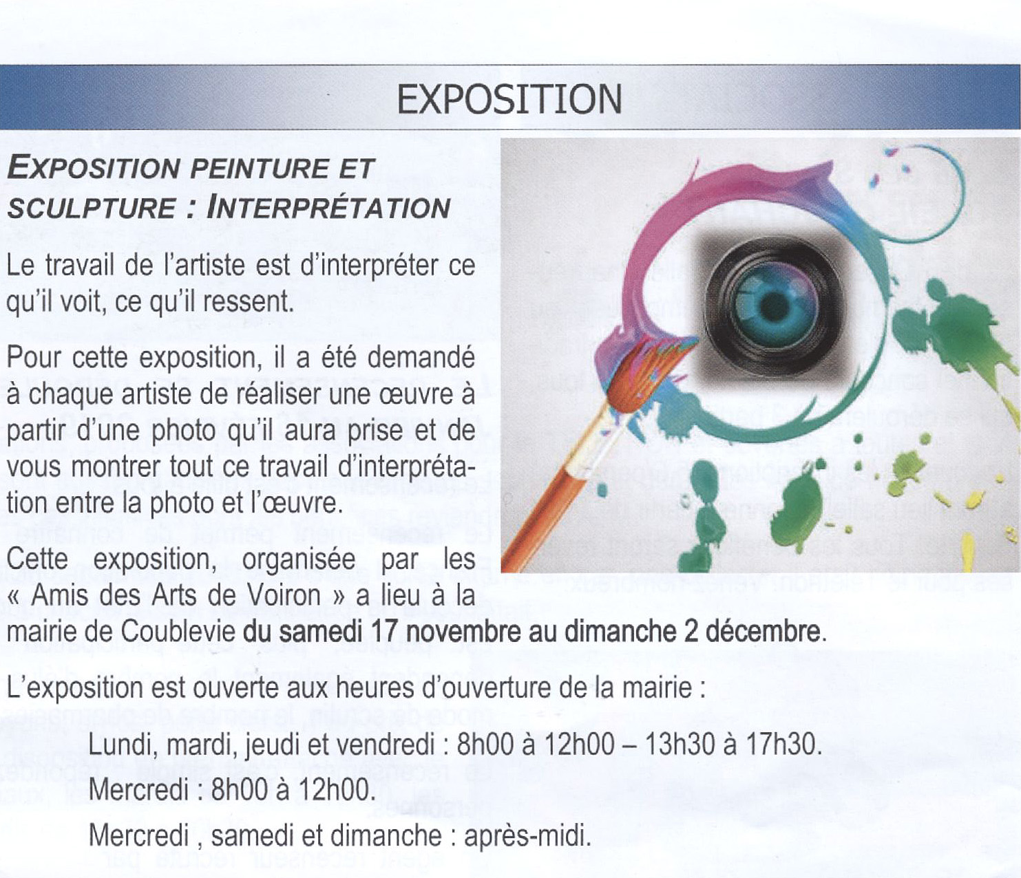 expo interprétation feuille locale