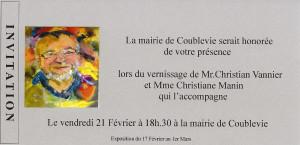 invitation exposition Christian Vannier